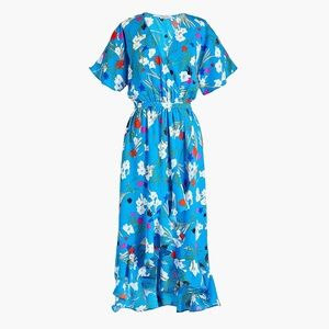 NWT J. Crew Ruffled Floral Faux Wrap Dress